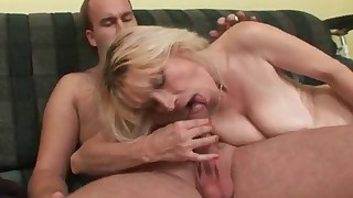 Cute saggy tits mature MILF porn session